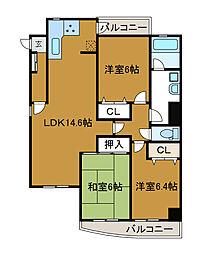 麻生フラット[5階]の間取り