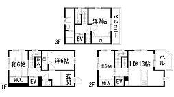 [テラスハウス] 兵庫県宝塚市安倉中2丁目 の賃貸【/】の間取り