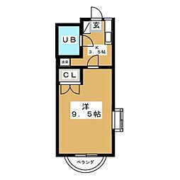 RIVAGE UEDA[1階]の間取り