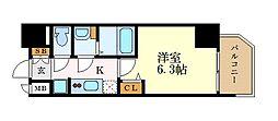 名古屋市営東山線 本山駅 徒歩2分の賃貸マンション 9階1Kの間取り