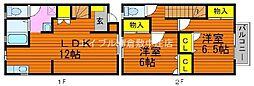 [テラスハウス] 岡山県倉敷市中島丁目なし の賃貸【/】の間取り