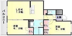 ルヴニールメゾン[2階]の間取り