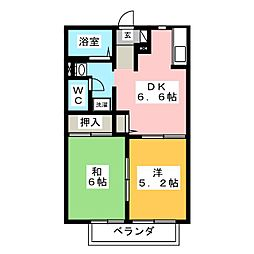 EVER GREEN A[2階]の間取り
