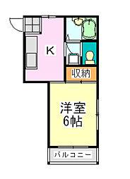 メゾンドール (※1・2号室)[2階]の間取り