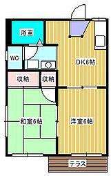 ふくじゅ荘[1階]の間取り