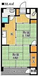 ミヨカワビル[4階]の間取り