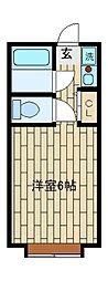 ミュワヤシロ[301号室]の間取り