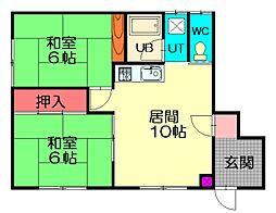 大江マンション[101号室]の間取り