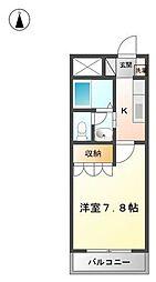 長野県松本市沢村2丁目の賃貸アパートの間取り
