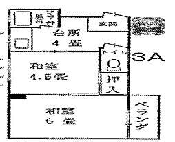 中島マンション深江本町[3A号室号室]の間取り