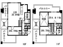 gala小倉[10階]の間取り