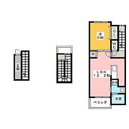 イースト ヒルズ[3階]の間取り