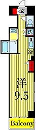 東京メトロ日比谷線 三ノ輪駅 徒歩3分の賃貸マンション 8階ワンルームの間取り