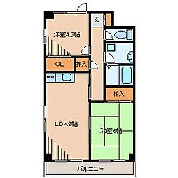 ヒロコーポ[2階]の間取り