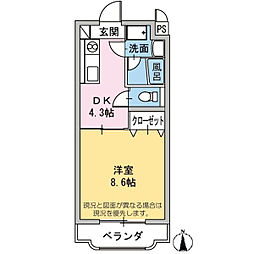 エミネンスHattori[2階]の間取り