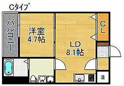 F maison GRACE II番館[1階]の間取り