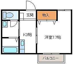 ピュアフォート[2階]の間取り