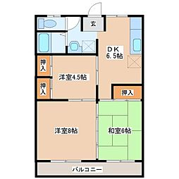コーポ宮地[2階]の間取り