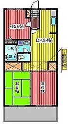 サニーコートAOKI[2階]の間取り