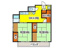 大久保荘[2階]の間取り