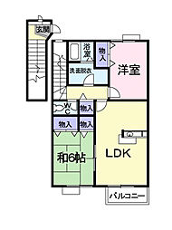 ニュー・レジデンスC[2階]の間取り