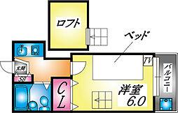 兵庫県神戸市灘区城内通1丁目の賃貸アパートの間取り