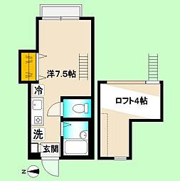 東京都中野区本町4丁目の賃貸アパートの間取り