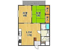 ハイツエミカIII[1階]の間取り
