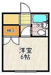 カーサ桃山[302号室]の間取り