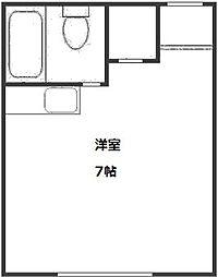 コーポ福田II[2階]の間取り