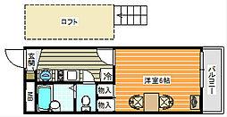 御崎[103号室]の間取り
