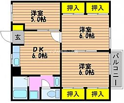 ニューシティ奥田B[2階]の間取り
