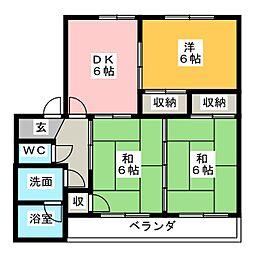シャンポールアキラPART1[2階]の間取り
