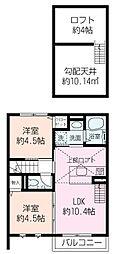 ミツ湘南[2階]の間取り