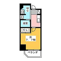 リテラス本所吾妻橋 5階1Kの間取り