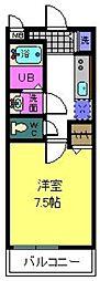 ドミール鳳[2階]の間取り