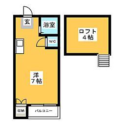 マキシム博多駅東[2階]の間取り