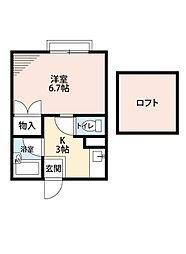 ひまわり荘[2階]の間取り