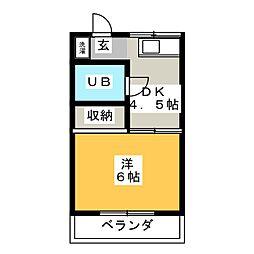 ブルーリバーI[3階]の間取り