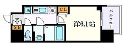 JR東海道本線 金山駅 徒歩8分の賃貸マンション 7階1Kの間取り