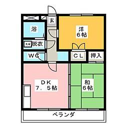 パークハイツ浅井[3階]の間取り
