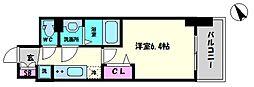 プレサンスOSAKA DOME CITYビーツ 9階1Kの間取り
