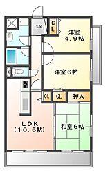 サンメゾン吹田II[3階]の間取り