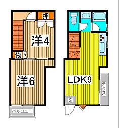 [テラスハウス] 埼玉県さいたま市浦和区前地1丁目 の賃貸【埼玉県 / さいたま市浦和区】の間取り