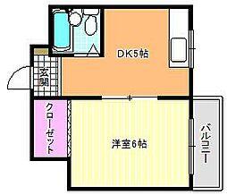 JPアパートメント東住吉IV[2階]の間取り
