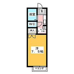 ハイツ・レジェンド・イン[2階]の間取り