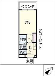 エクセレント栄光[3階]の間取り