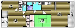 コスモヒルズ北野田[7階]の間取り