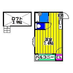 マキシム笹原[2階]の間取り