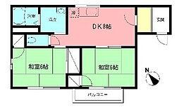 神奈川県座間市相模が丘1の賃貸アパートの間取り